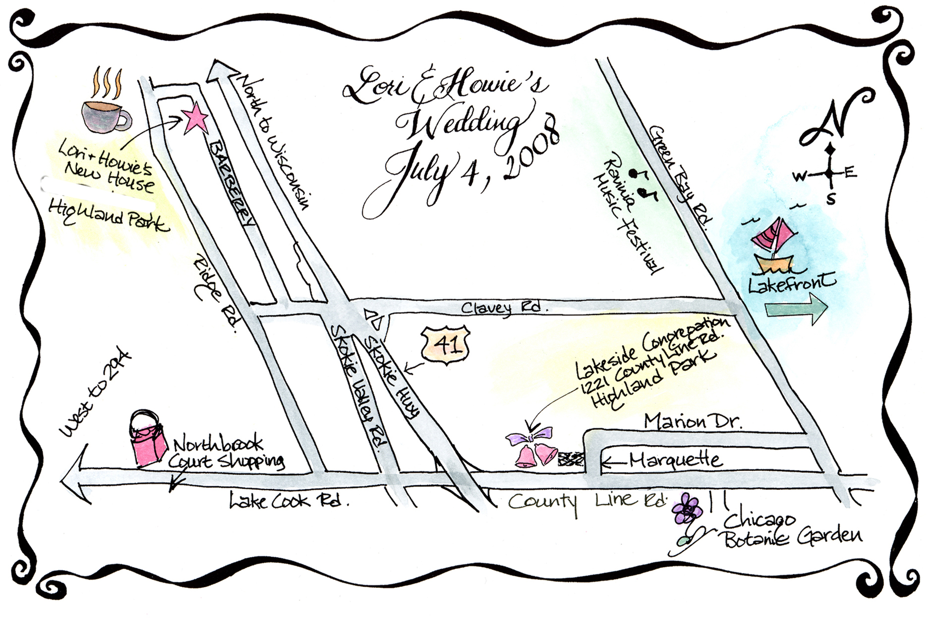 Wedding Map Craft Museforjews